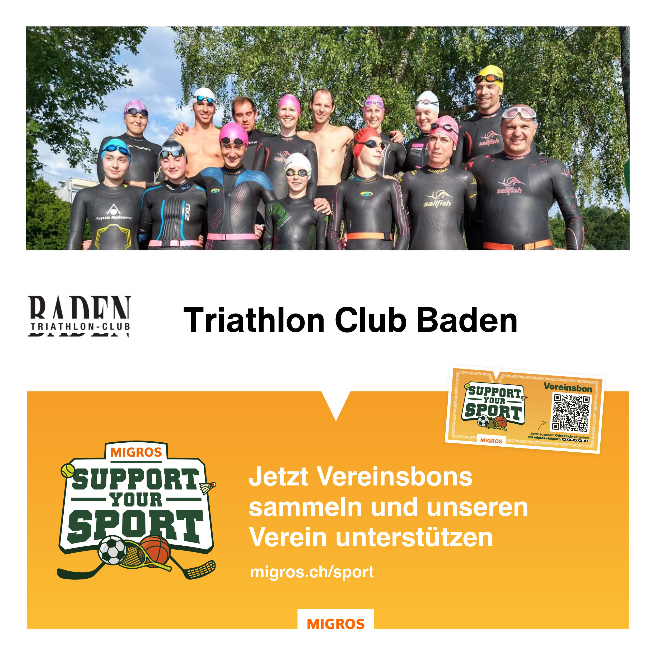 Migros Support your Sport Triathlon Club Baden